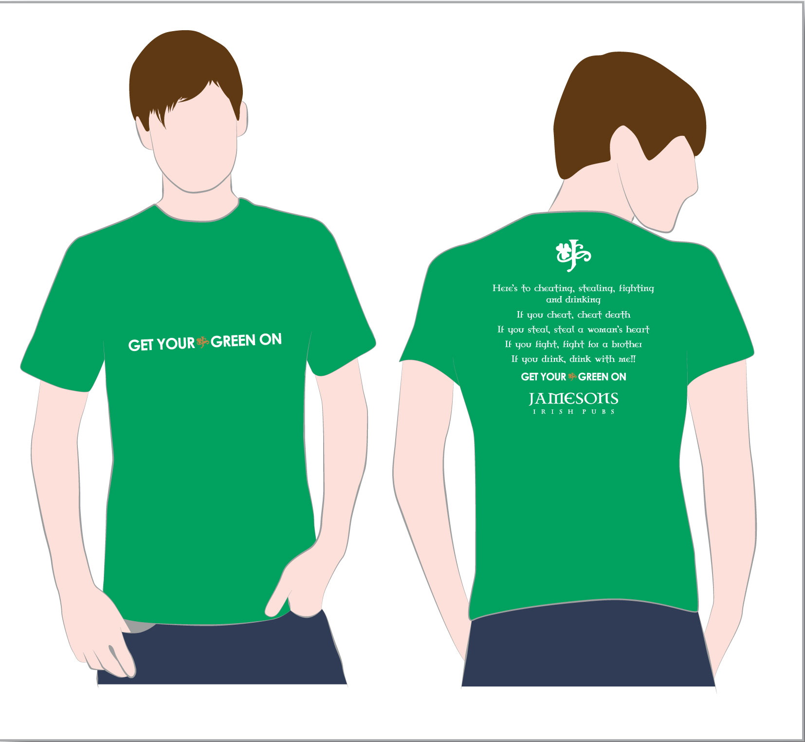 0a6918ed1 St. Patrick's Day T-shirts | JAMESONS IRISH PUBS